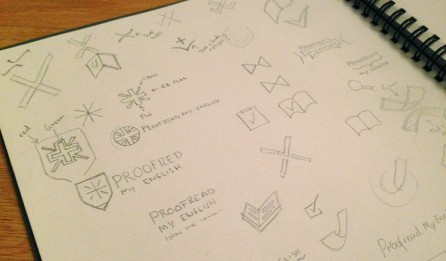 Logo designers sketchbook